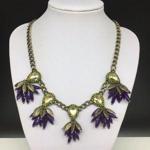 BaubleBar Bougainvillea Rhinestone Necklace